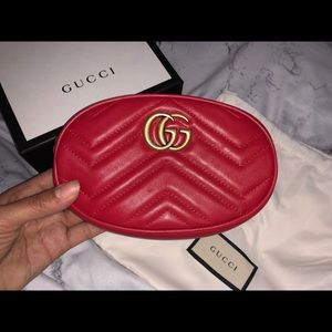Brand new red Gucci belt bag